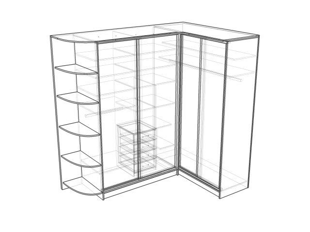 Угловой шкаф дизайн идеи размеры