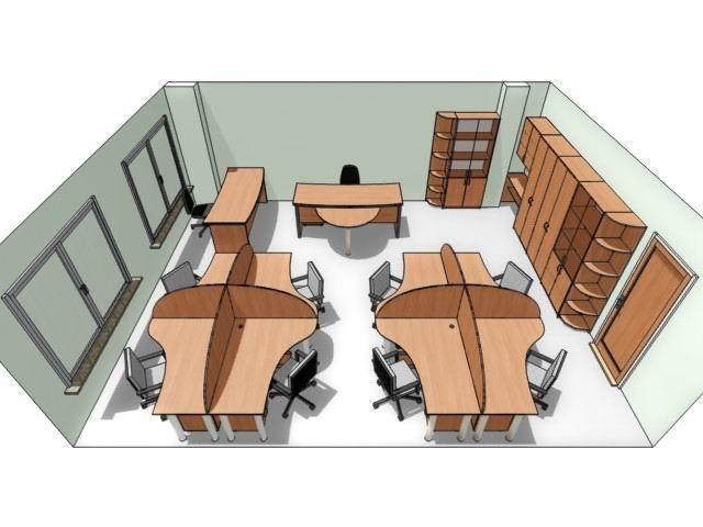 Дизайн рабочего места для персонала №53, изготовленного на заказ